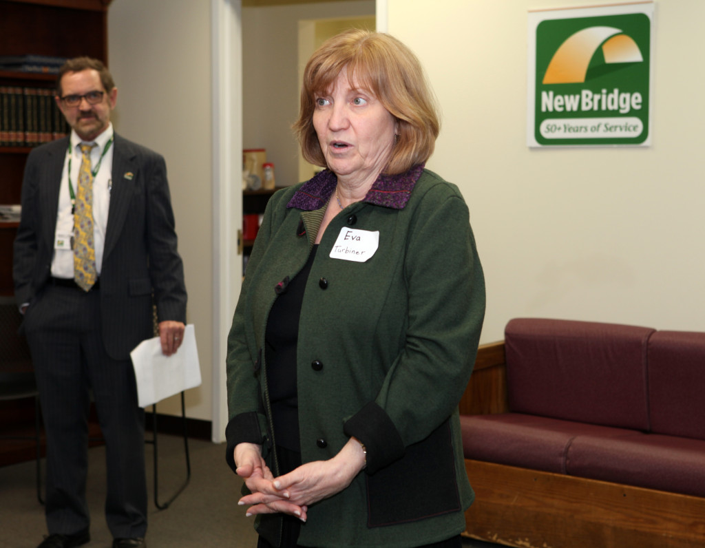 Zufall Health Eva Turner speaks at the public to the grand opening of NewBridge Parsippany Center. The 15,320 square-foot-center provides mental health counseling, educational services, addiction treatment and wellness programs for the community.