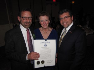 NewBridge CEO Robert Parker, NewBridge Board of Trustees President Betty Cass-Schmidt and NJ Assemblyman Anthony M. Bucco
