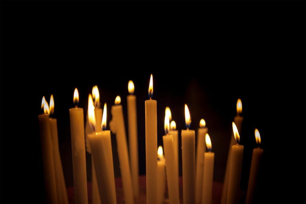 Candles signifying hope during National Suicide Prevention Awareness Month