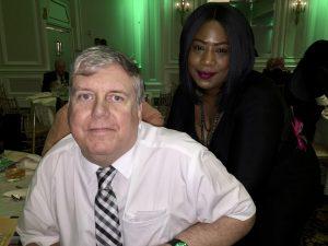 NewBridge Client John Donegan with his NewBridge case manager, Veronica Richardson.