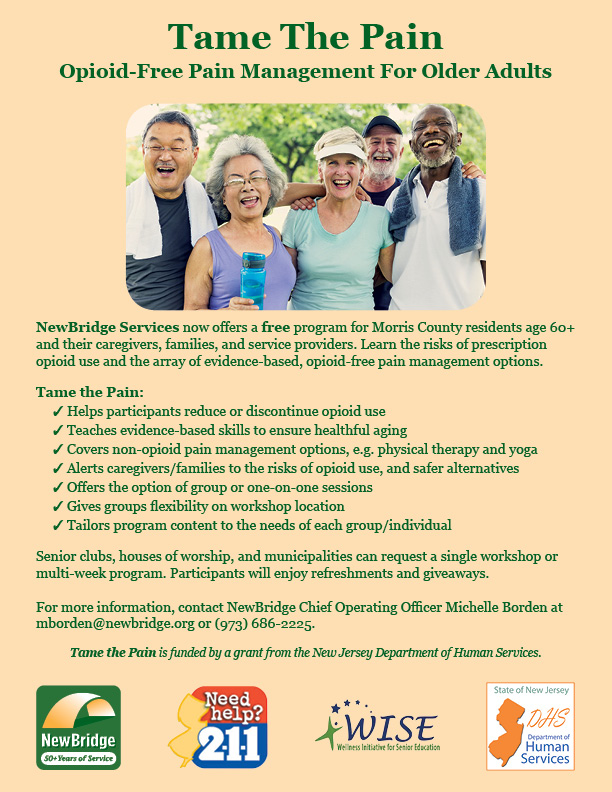 Tame the Pain program flyer