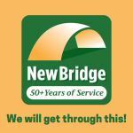NewBridge logo with the words We will get through this! underneath