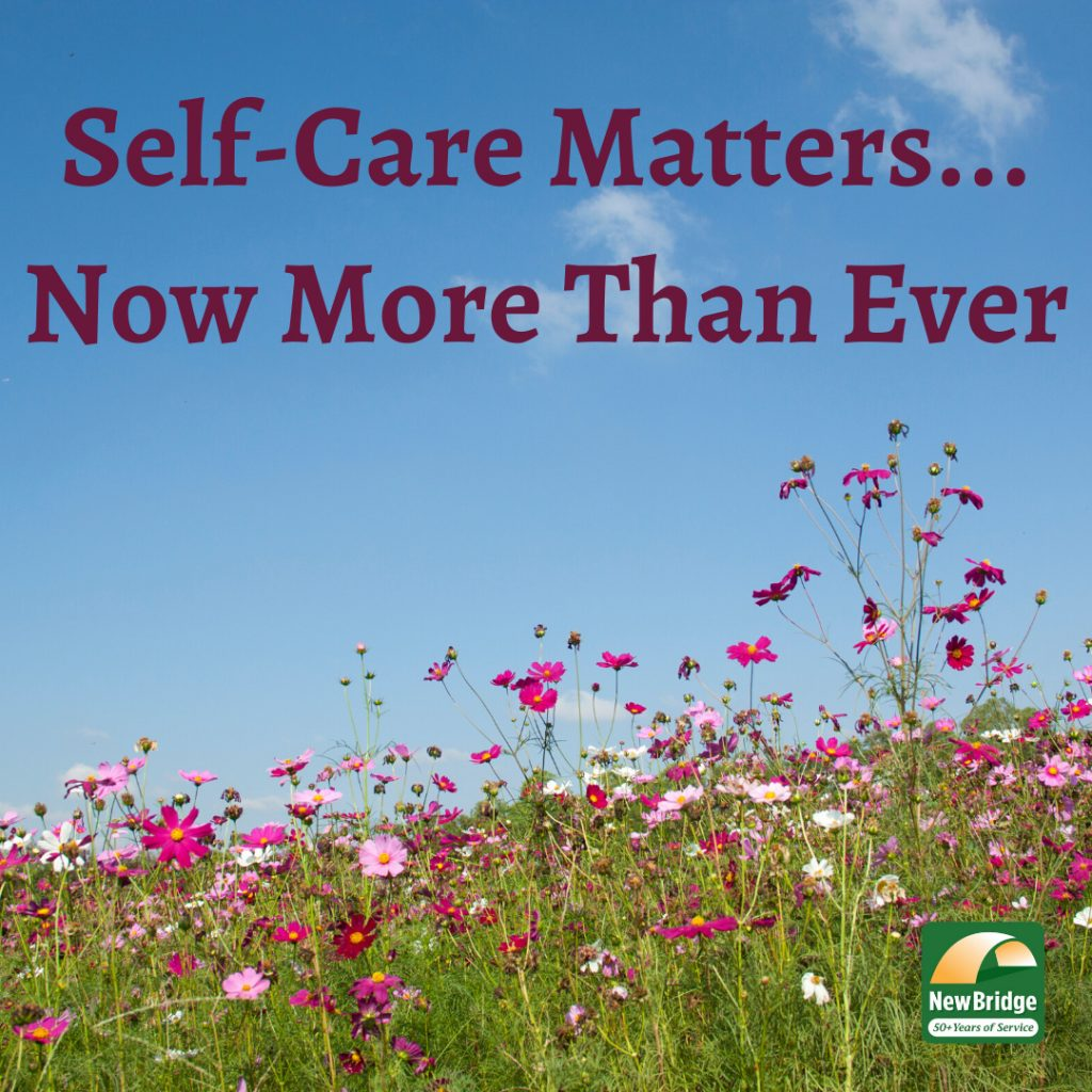 Self-Care is more important than ever. Photo of field of flowers